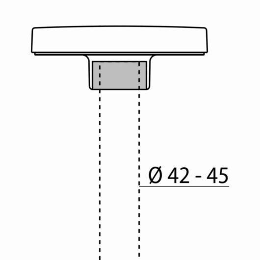 ADATTATORE TESTAPALO D.42/45mm PADO 1