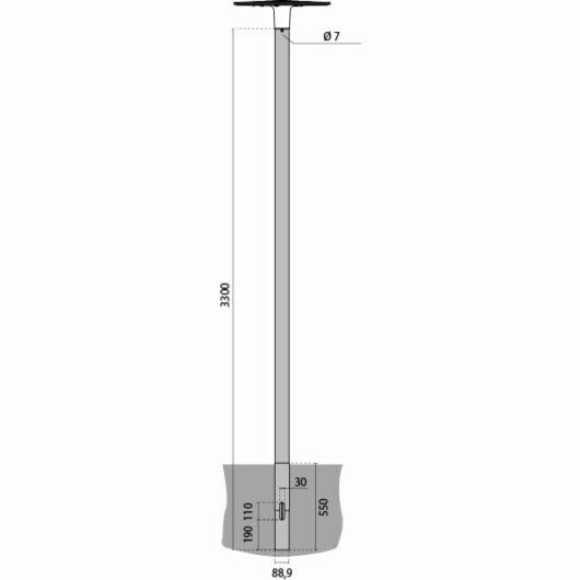 PALO SPILLO INT. 3,3 m 1