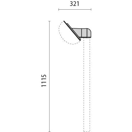 Mensola per palo ø 42 inc. 40° 1