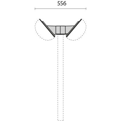Mensole doppie per palo ø 60 inc. 40° 1