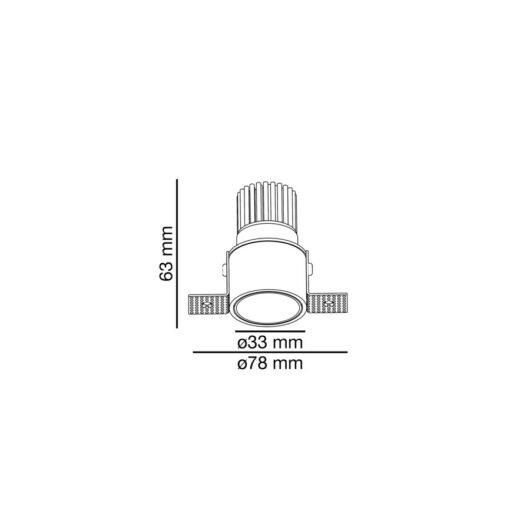 Fox 3-5W 350-500Ma 2700K 25° Trimless 2