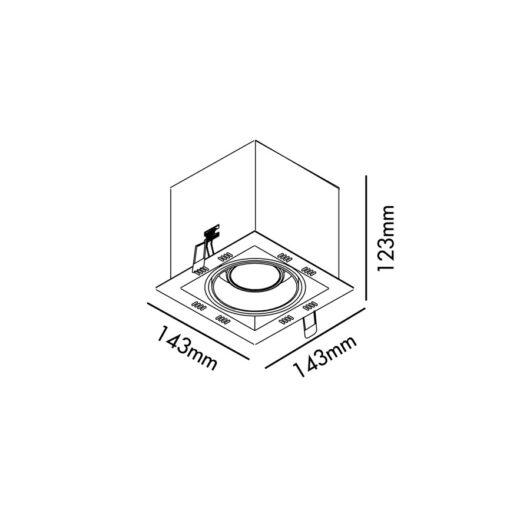 Falcon-1 Negru spot GU10 50W fara rama 2