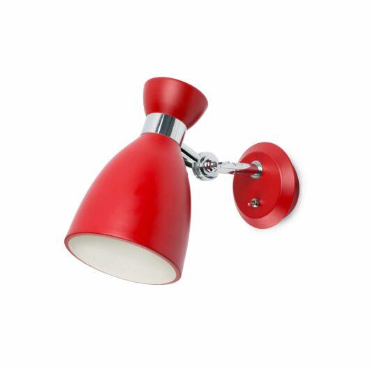 Retro Rosu Lampa de perete 1 X E14 Max 20W 1