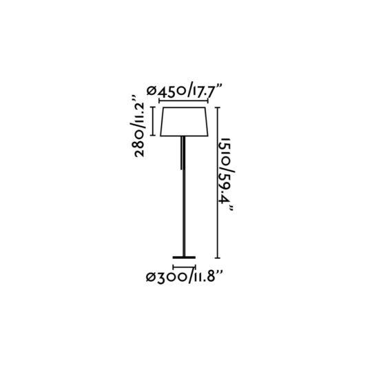 Volta Negru Lampadar E27 20W 2700K 2