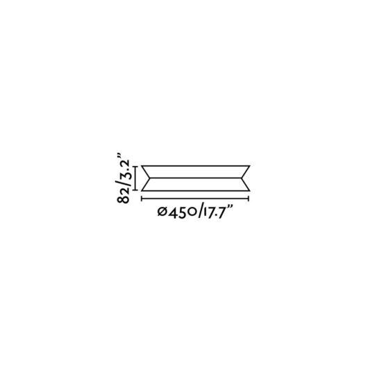 Tender plafoniera Negru Led 24W 3000K 2