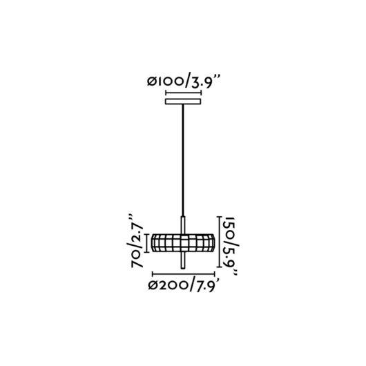 Miniphill Wood Pendant Led 12W dimabil 3000K 2