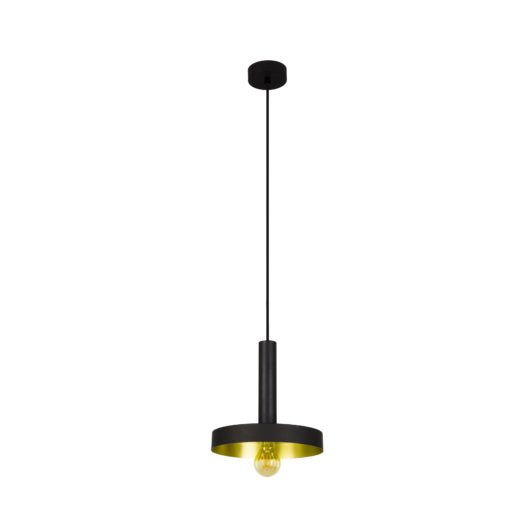 Whizz Negru si Satin Gold candelabru 1
