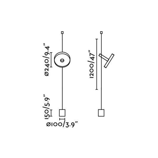Whizz Negru Pendant/Lampadar Accesoriu 2