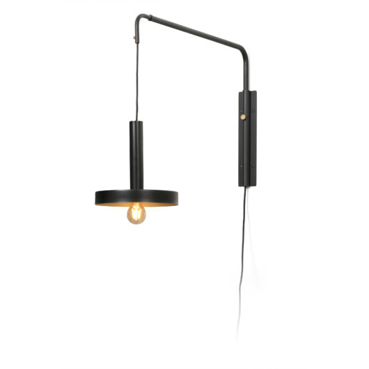 Whizz W/L Extensible Negru/Satin Gold 1Xe27 1