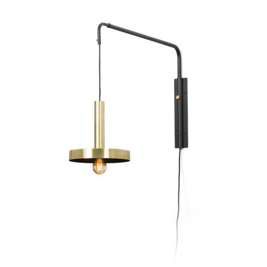 Whizz W/L Extensible Satin Gold/Negru 1Xe27 1