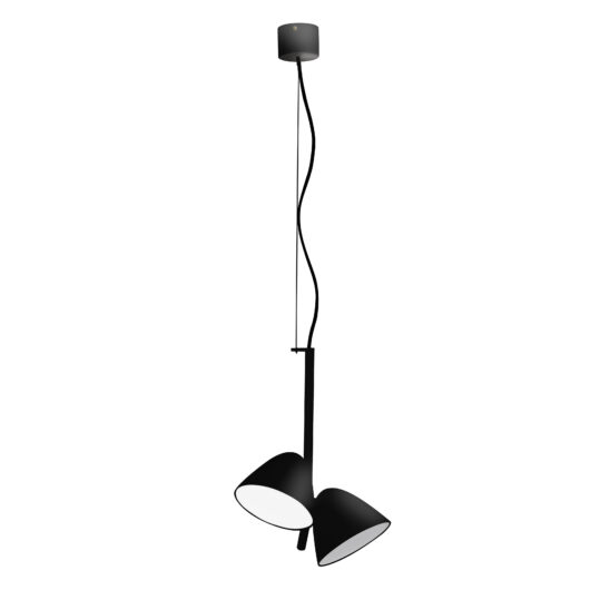 Flash Led Negru candelabru 2L 1