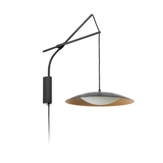 Lampa de perete Extensible Negru/Gold Led  Ø40 Cms 1