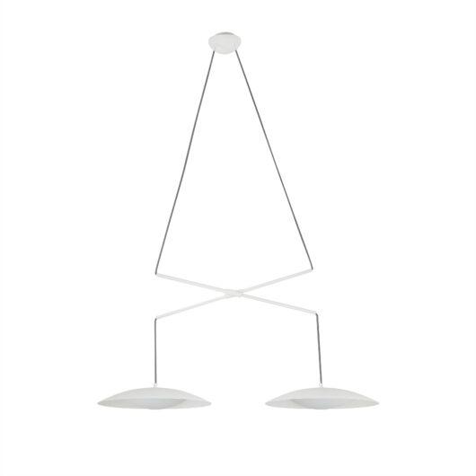 Slim Alb Double candelabru 1