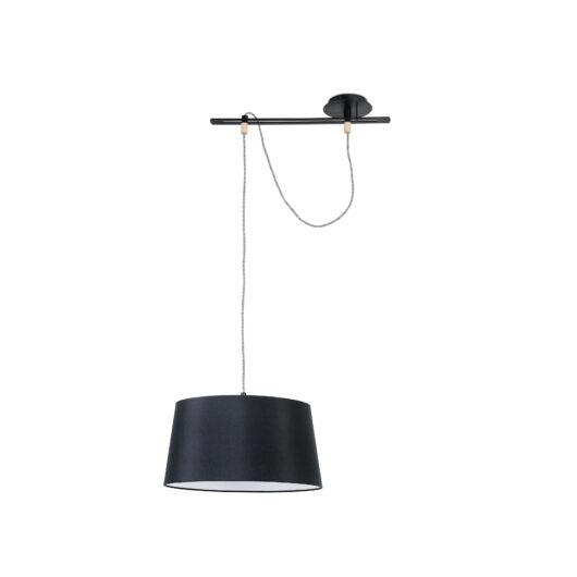 Fusta Negru candelabru 1 X E27 20W 1