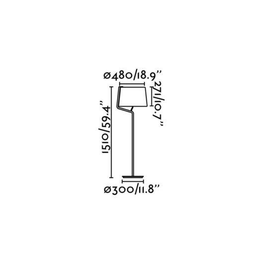 Berni Negru Lampadar 1 X E27 20W 2