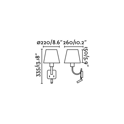 Essential Matt Nickel Lampa de perete With Led Reader 2