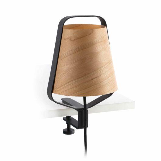 Stood Clip E27 Negru + Wood Max 20 W 1