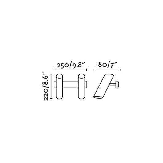 Link Negru Lampa de perete 2 X GU10 11W 2