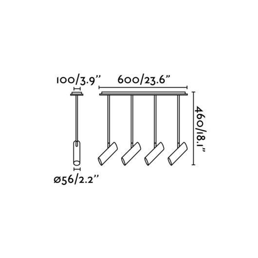 Link Alb candelabru 4 X GU10 11W 2