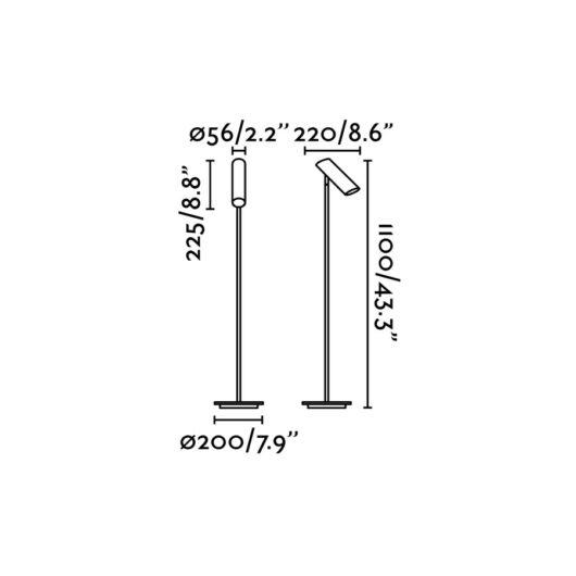 Link Negru Lampadar 1 X GU10 11W 2