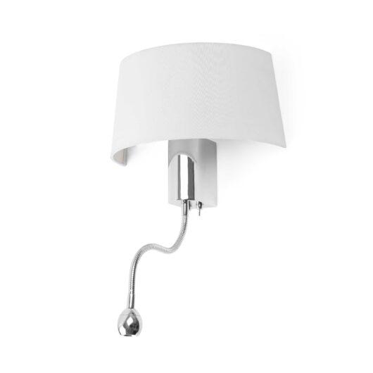 Hotel Alb Lampa de perete With Led Reader 1 X E27 15W 1