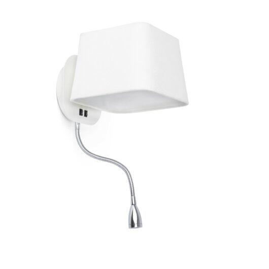 Sweet Alb Lampa de perete With Led Reader 1 X E27 60W 1