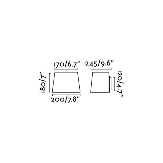 Sweet Alb Lampa de perete 1 X E27 60W 2