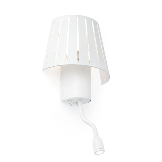 Mix Alb Lampa de perete With Led Reader 1 X E14 60W 1