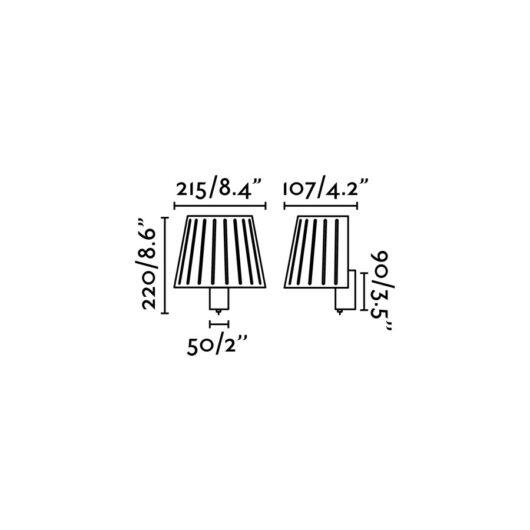 Mix Alb Lampa de perete 1 X E14 60W 2