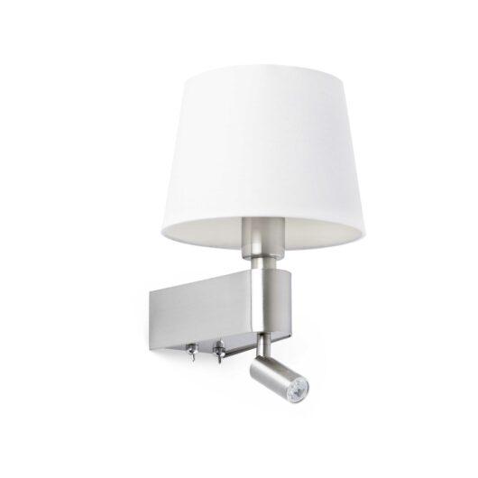 Room Alb Lampa de perete With Led Reader 2700K 1