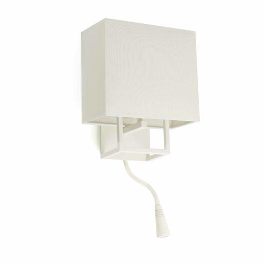 Vesper Alb Lampa de perete With Reader Led 1 X E14 20W 1
