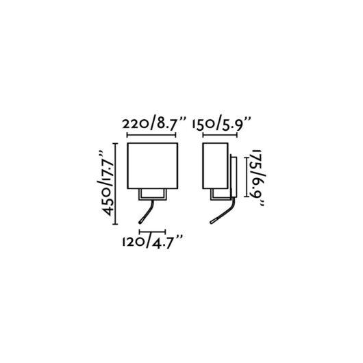 Vesper maro Lampa de perete With Reader Led 1 X E14 20W 2