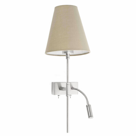 Sabana Matt Nickel Stanga Lampa de perete With Led Reader 1