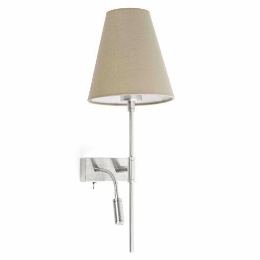 Sabana Matt Nickel Dreapta Lampa de perete With Led Reader 1