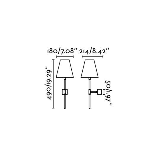 Sabana Matt Nickel Lampa de perete 1X E27 15W 2