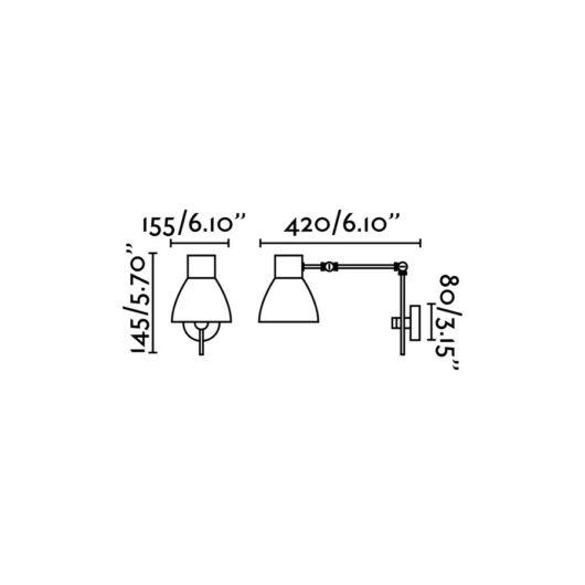 Celia Matt Negru Lampa de perete 1 X E14 20W 2