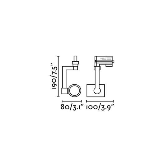 Ram Negru proiector pe sina Par30 E27 2