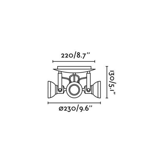 Ring-4 Dark Gri plafoniera 4 X GU10 2