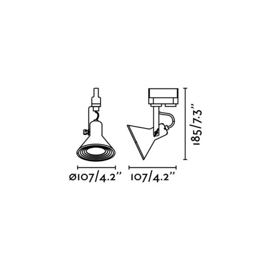 Cup Cupru proiector pe sina 1 X GU10 Led 8W 2