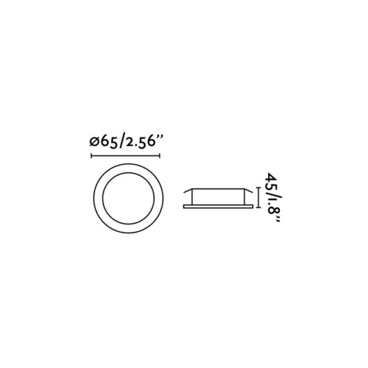 Koi-2 Alb orientabil Recessed 12 Led 0.5W/ Led 3 2