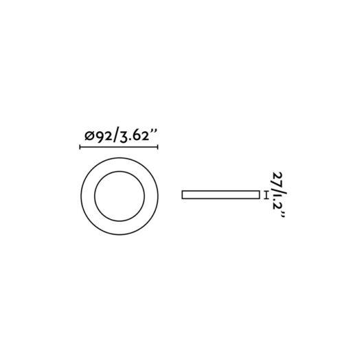Radón Adjustable Alb Recessed Lamp GU10 2