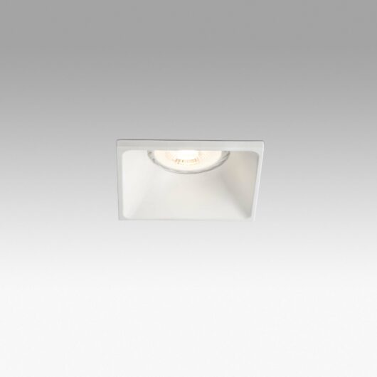 Neón Alb Recessed Lamp 1XGU10 Square 1