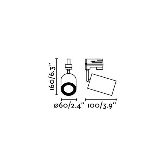 Stan proiector pe sina Alb 1XGU10 2
