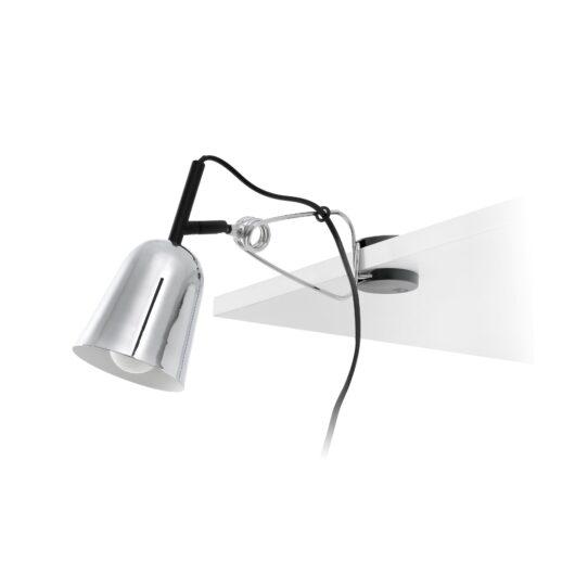 Studio Chrome si Alb Clip Lamp 1