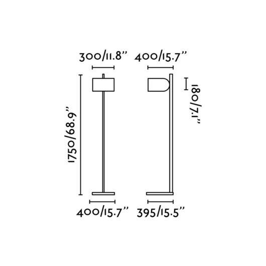 Stsi Up Aluminium Lampadar Negru Shade E27 20W 2