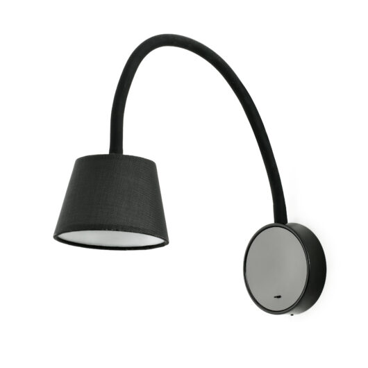 Blome Negru Lampa de perete 1