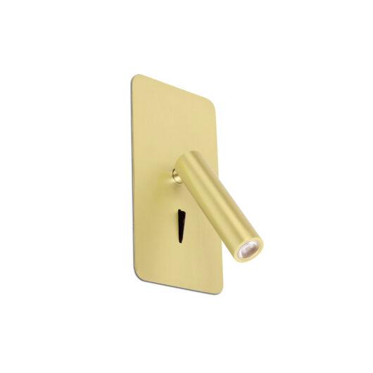 Suau Led Satin Gold Recessed Lamp 1
