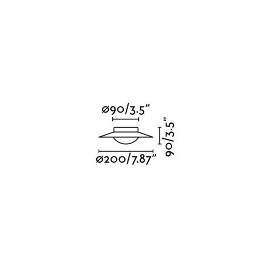 Side Alb/Nickel plafoniera G9 2
