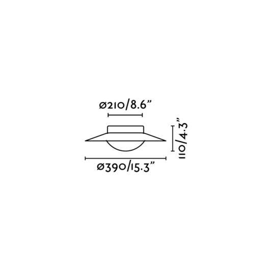Side Led Alb/Nickel plafoniera 15W 2