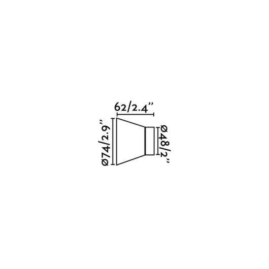 Kera Lampa de perete Alb 1L E27 2